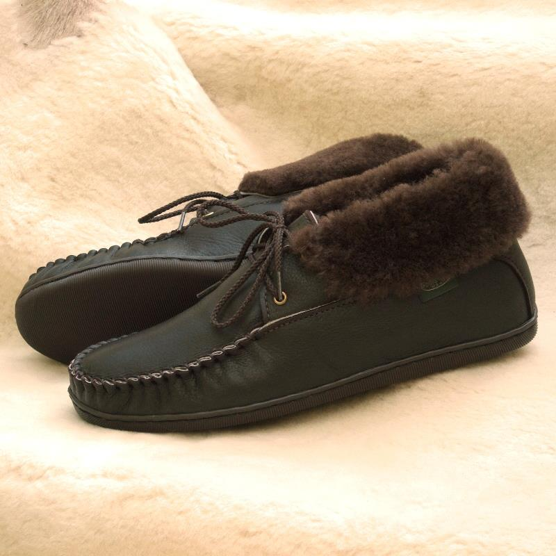 Ankle high slippers for superior warmth