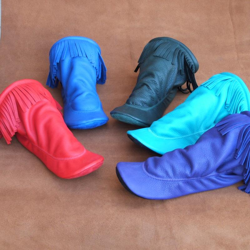 Deerskin Fringe Available in Red, Blue, Turquoise & Purple